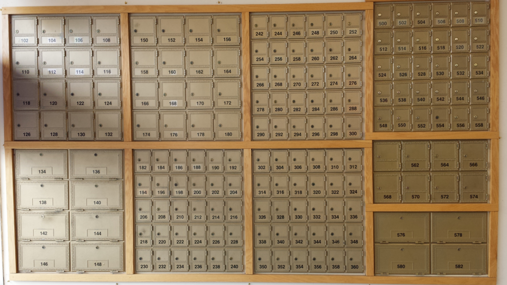 Our 24 hour access mailboxes